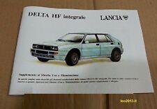 Lancia delta hf integrale evoluzione 1 supplemento libretto uso e manutenzione