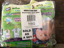 Mighty Clean Baby Disposable Baby Bibs-24 Count