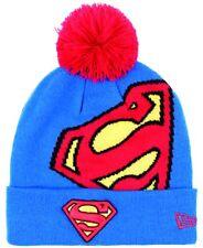 New Era Superman Héroe Encima Logo Bobble Gorro Beanie Royal Red Gorra Dc Comics