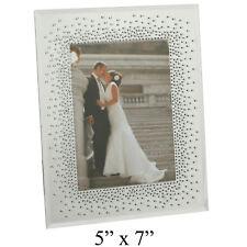 Wedding Mirror Glass Photo Picture Frame Starburst Crystals Gift Frames 5x7