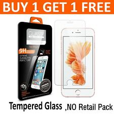 GENUINE TEMPERED GLASS SCREEN PROTECTOR COVER FOR IPHONE SE 5 5S #LE