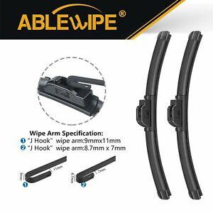 "ABLEWIPE Fit For MAZDA B2200 B2300 B2500 B2600 B3000 B4000 Wiper Blades 18""&18"""