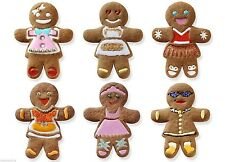 Tovolo Gingerbread Girls Cookie Cutter & 6 Design Stamps Set Christmas Holiday