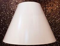 Lampenschirm für Hängeleuchte Stehlampe aus Lack PCV weiß Ø32 cm E27, konisch