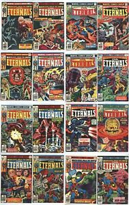 Eternals (1976) 1-15,18, Annual - Lot of 17 - 1st Print Kirby (3 Sersi)