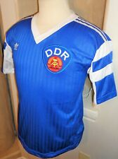VTG ADIDAS DDR EAST GERMANY 1989-90 SOCCER JERSEY FOOTBALL SHIRT SAMMER RARE