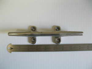"""Vintage Antique Brass Cleat  8""""Long  4 Hole Nautical Ship Boat Tiedown"""