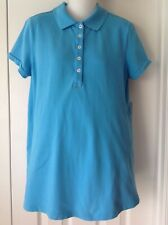 Duo Maternity - Baby Blue Pique Polo Shirt Top - Medium M