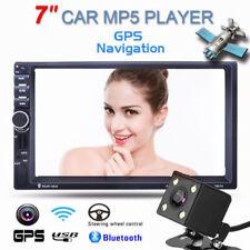"""7"""" HD 2DIN Bluetooth Coche Radio Pantalla Táctil MP5 Reproductor GPS con Cámara"""