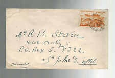 1950 St Pierre Miquelon airmail cover to St john's Canada