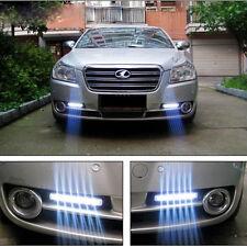 2x Car Daytime 12V DC Running Light 8 LED DRL Head Lamp Daylight Super White