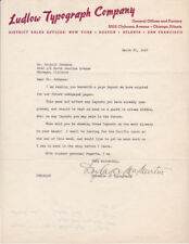 Douglas Crawford McMurtrie 1937 Signed Letter - American Typeface Designer - Wpa