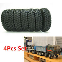 4Pcs Rubber Tires Tyres For Tamiya RC 1:14 Tractor Truck Trailer Climbing CarHPI