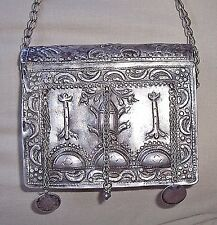 Antique Moroccan Ethnic Silver Prayer (Quran, Koran) Box Case Sterling Coins