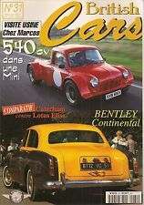 BRITISH CARS 31 MINI 540cv BENTLEY CONTINENTAL CATERHAM LOTUS ELISE + SEVEN