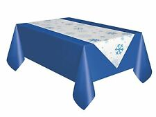 Table Runner Blue Christmas Snowflake Frozen Party Tablecover Decoration Home