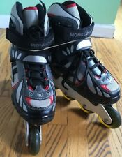 EUC Mongoose Inline Lace Up Roller Skates Rollerblades ABEC 5 Youth Size 7