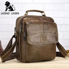 US Men Genuine Leather Business Shoulder Bag Messenger Crossbody Handbag Travel