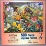 New Adam & Eve in Paradise 500 Piece 18 x 24 Jigsaw Puzzle Tiger Flowers Jungle
