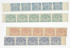 E6082 PARAGUAY AIR MAIL STAMPS STRIPES OF 5 COLON COLUMBUS