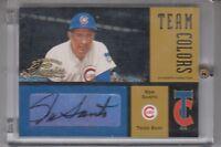 2004 Donruss Classics Team Colors Ron Santo Chicago Cubs Autograph 2/10 HOF