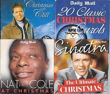 4 promo newspaper cds CHRISTMAS cliff richard nat king cole frank sinatra carols