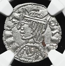 SPAIN. Sancho IV el Bravo (the Brave) 1284-1295, Billon Cornado, NGC Unc Details