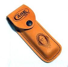 Case navaja estuche marrón claro cuero estuche navaja Knife Case