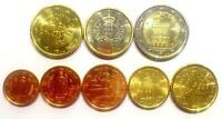 Euro-Kursmünzensatz San Marino 8 Münzen 1Cent - 2 Euro div.Jahrgänge Stgl.