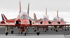 Royal Air Force RAF Red Arrows on Runway at RAF Marham 12x6 Inch Photo