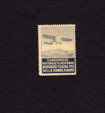 Switzerland Zumstein # V Herisauer Flugtag 1913 Flugpost MLH Single Air Stamp
