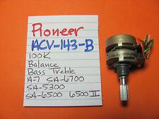 PIONEER ACV-143-B BASS TREBLE BALANCE POT A-7 SA-6700 SA-5300 SA-6500 SA-6500II