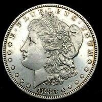 1880 P  PL. Morgan Silver Dollar , Uncirculated Collectible Coin. #1.16