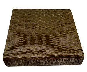 mp04t Bronze Brown Thick Folds Shimmer Velvet 3D Box Sofa Seat Cushion Cover