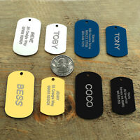 Military Dog Tags Training Dog Tags Personalized Free Engraved ID Nameplate M L