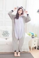 Unisex Adult Kigurumi Pajamas Anime Cosplay Costume Suits Sleepwear Grey Koala