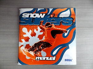 Manual Only Snow Surf Booklet Instruction Manual Fr