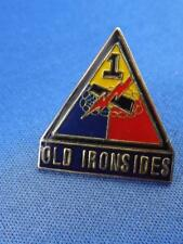 1rst ARMORED DIVISION OLD IRONSIDES  PIN ARMY HAT MILITARY VETERAN COLLECTOR