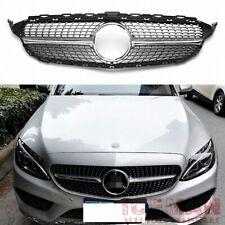 Diamantgrill Chrom Mercedes Benz Frontgrill C-Klasse W205 S205 A205 C205 2014