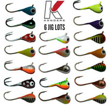 Tungsten Fishing Jigs (6 Pack Lots) - 6mm #8 Hook 27 COLORS Ice Fishing