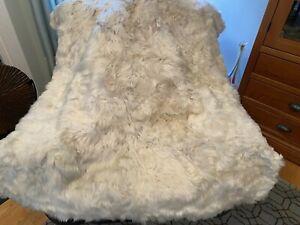 NEW RH Suri REAL Alpaca Fur Throw 50x60 Retail $1599