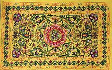 Indian Wall Hanging Tapestry Hippie Bohemian Tapestries Suzani Home Decor Yellow