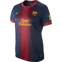 FC Barcelona Womens Football Shirt Nike Home Blue Red Dri Fit Jersey 2012-13