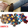 100x NEW Guitar Picks Acoustic Electric Plectrums Celluloid Assorted Mix Colors