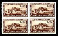 Repubblica - 1948 - Repubblica Romana - lire 100 - quartina - Falsa d'epoca