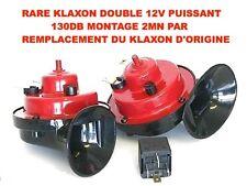 SUPER PUISSANT 120DB! DOUBLE KLAXON 12V GRAVE+AIGUE! PATROL NAVARA  LAND RANGE