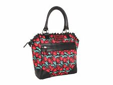 New Betsey Johnson Cherry Boom Purse Tote Hand Bag Red Black