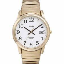 Timex T2H301, Easy Reader, Men's, Goldtone Expansion, Indiglo, Date
