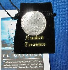 Full Date 1783 El Cazador Shipwreck Spanish Colonial Mexico Silver 8 Reales