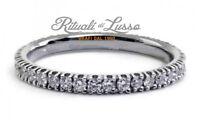 Anello fedina Eternity oro bianco 18 kt. diamanti naturali ct. 0.26 donna Regalo